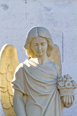Angel statue in a cemetery photo