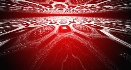 Horizon fractal, abstract landscape. photo