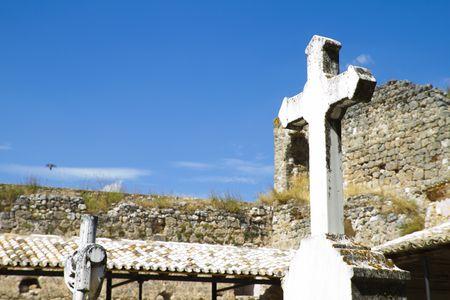 the eighteenth: Eighteenth Century Cemetery, Brihuega, Spain Stock Photo