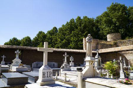eighteenth: Eighteenth Century Cemetery, Brihuega, Spain Stock Photo