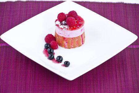 ambrosia: Strawberry and blackberry cake
