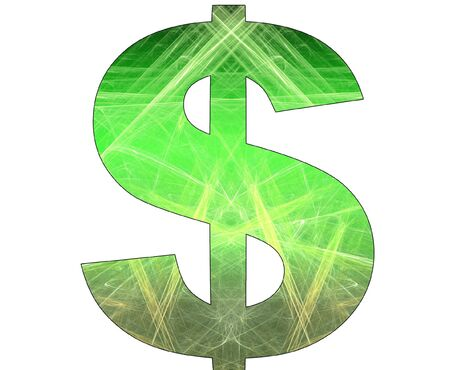 Dollar symbol with abstract design Stock Photo - 7929078