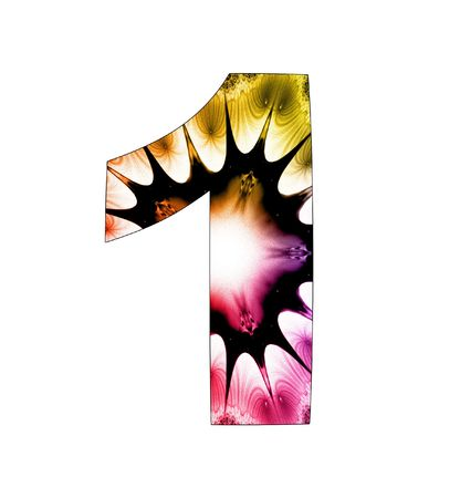 1  number with abstract design photo