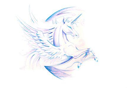 Sketch of tattoo art, horse, unicorn Stock Photo - 8207206