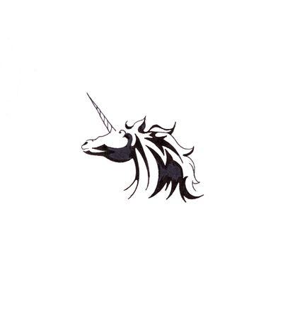 Sketch of tattoo art, horse, unicorn Stock Photo - 8207178