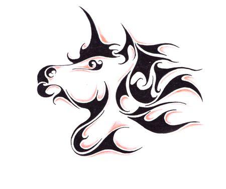 tattoo: Sketch of tattoo art, horse