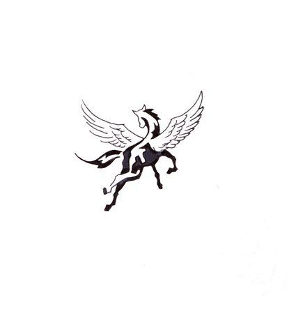 Sketch of tattoo art, horse photo