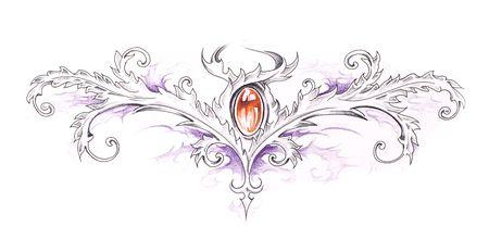Sketch of tattoo art, tribal decorative design Stock Photo - 8207210