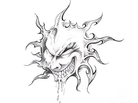 Sketch of tattoo art, sun with face Stock Photo - 8207207