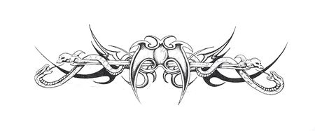 Sketch of tattoo art, tribal design Stock Photo - 8207200