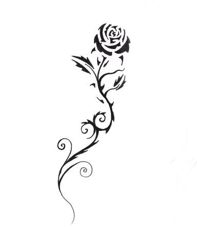 Sketch of tattoo art, black rose Stock Photo - 8207240