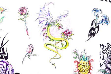 Sketch of tattoo art photo