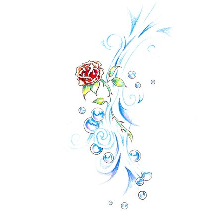 Sketch of tattoo art, rose and tribal forms Stock Photo - 8207253