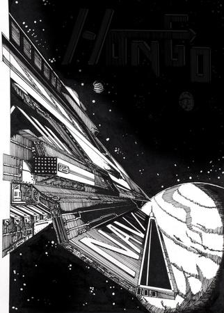 Starship, sci-fi picture Stock Photo - 8308878