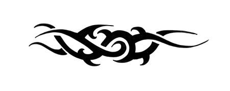 tribales: Arte de tatuaje, esbozo de un brazalete negro de tribal Foto de archivo