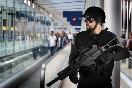 airport security: Airport security, armed police
