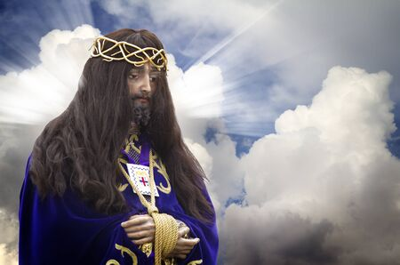 Image of Jesus Christ on bottom of clouds, Spain Stock Photo - 9726634