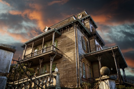 nightmare: Delighted house, mansion of the terror, nightmare Stock Photo