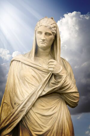 Antigua Greek lady, classic art sculpture Stock Photo - 9726635