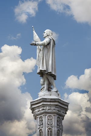 descubridor: Escultura de Crist�bal Col�n, descubridor de Am�rica, Madrid, Espa�a