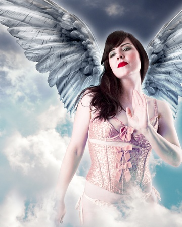 Sweet angel, woman with wings