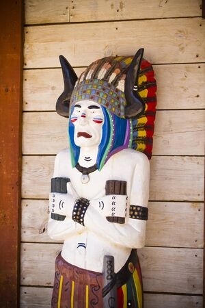 far west indian wooden sculpture totem inspired photo