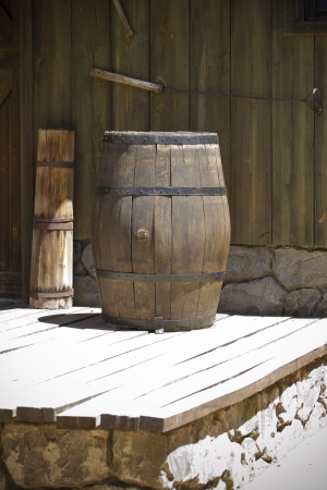far west wooden barrel photo