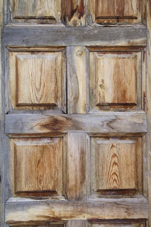 Rustic wooden door, spanish style photo