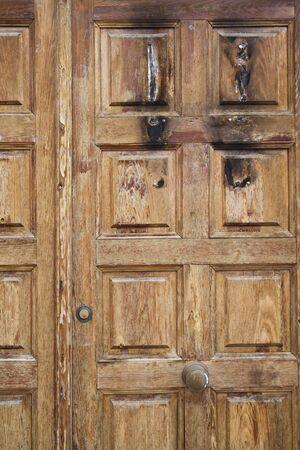 Rustic wooden door, spanish style photo