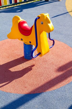 Amusement park, horse toy photo