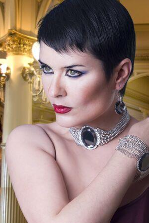 glamorous stylish woman with jewellery Stock Photo - 12597786