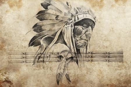 http://us.123rf.com/450wm/outsiderzone/outsiderzone1204/outsiderzone120400024/13028731-Татуировка-эскиз-индейского-вождя-племени-воинов.jpg