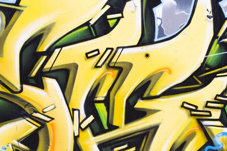 asbo: Colorful grafitti arrows with yellow letters