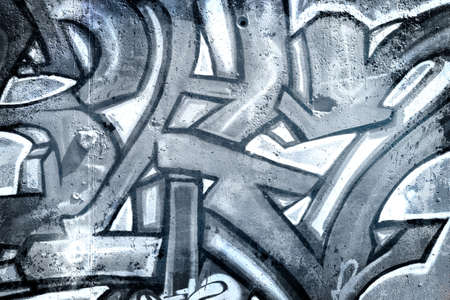Urban art over old dirty wall, Gray texture painted , modern design Stock Photo - 13386999