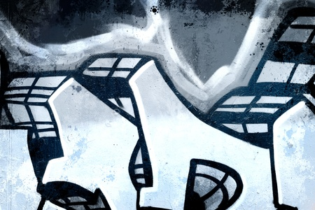 asbo: Cold Graffiti over old dirty wall, urban hip hop background Gray texture painted with bright colorful Editorial