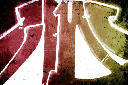 asbo: Hell background over old dirty wall, urban hip hop background Gray texture painted with bright colorful Editorial
