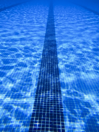 beautiful clear pool water lit by the sun Stock Photo - 14507012