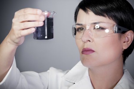 laboratory female personel on research and development, career woman photo