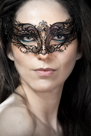Sexy woman with  arabic mask photo