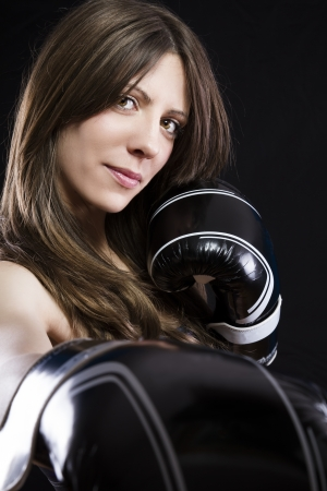 Sensual and sexy Boxing Woman photo