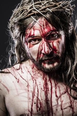 Jezus Christus met doornenkroon, de vertegenwoordiging van Golgotha