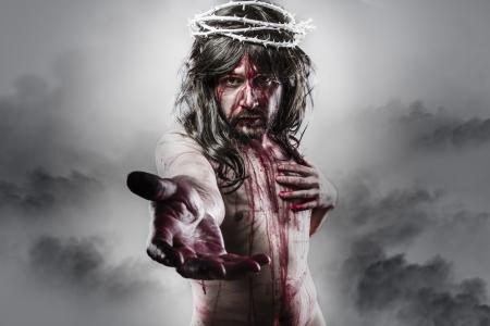 イエス ・ キリストの復活の表現。カルバリーと宗教の概念 写真素材