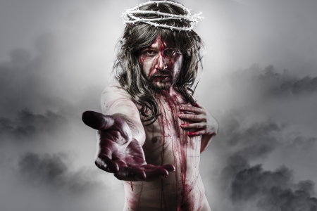 representation of the resurrection of Jesus Christ. Calvary and religion concept
