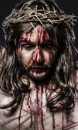 jesus blood: representation of the passion of Jesus Christ. Calvary and religion concept