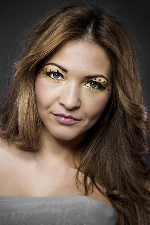 spanish woman: Big eyelashes, spanish woman with long hair