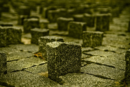 Architecture concept, little rock blocks photo