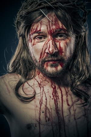 viacrucis: Jesus Christ, passion concept, religion picture Stock Photo
