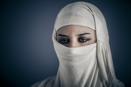 Ethnic, Young Arabic woman. Stylish portrait photo