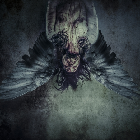 Ange déchu de la mort, modèle Homme, le mal, aveugle Banque d'images - 24885435