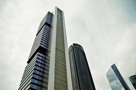 Crystal Tower, skyscraper of Madrid, placed in financial zone ,four modern skyscrapers (Cuatro Torres), Spain